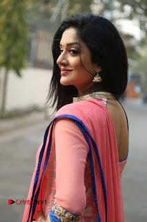 Actress Vimala Raman Stills in Beautiful Pink Salwar Kameez at (ONV) Om Namo Venkatesaya Press Meet  0107.JPG