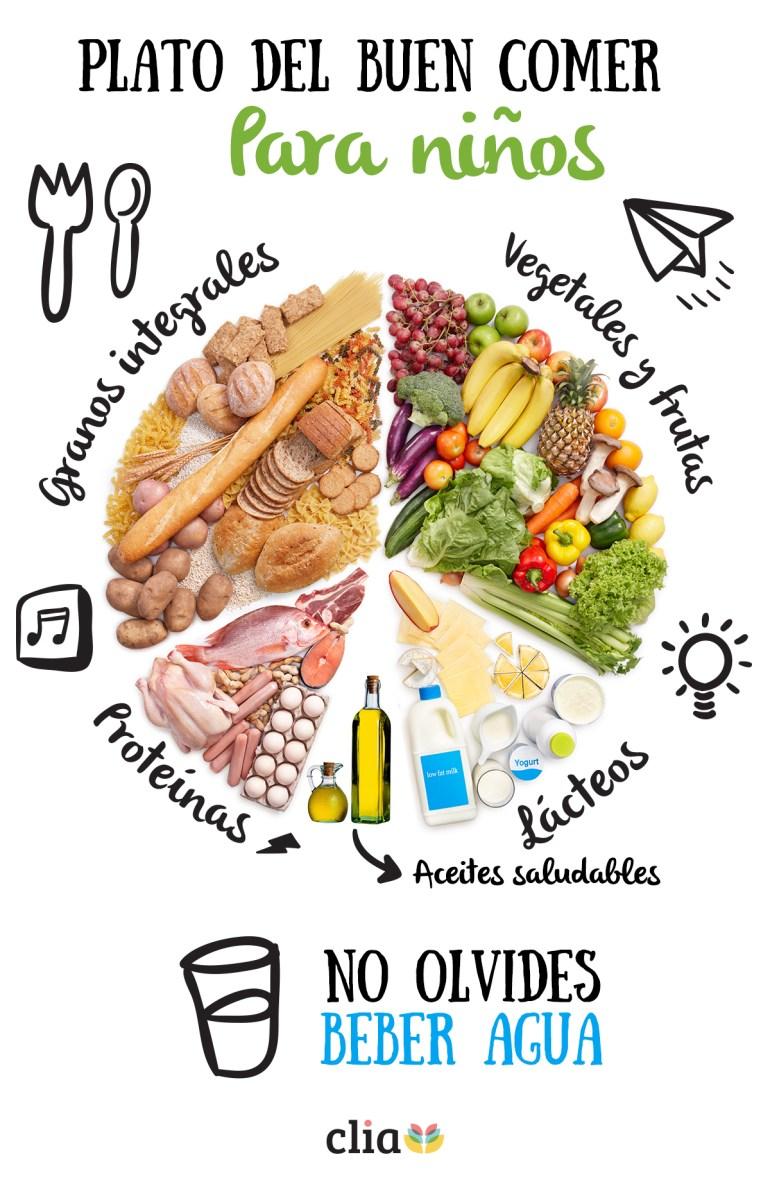 una buena alimentacion saludable para niños
