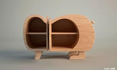 Dise a uam mueble en forma de canino para interiores for Disena tu mueble
