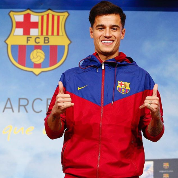 FC Barcelona Unveil Philippe Coutinho, Says He Has Thigh Injury