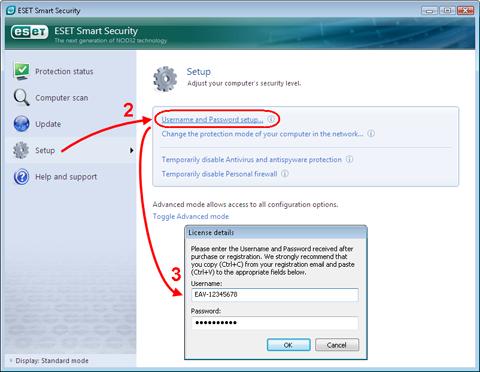 User Password Nod32 Update - processxsonar