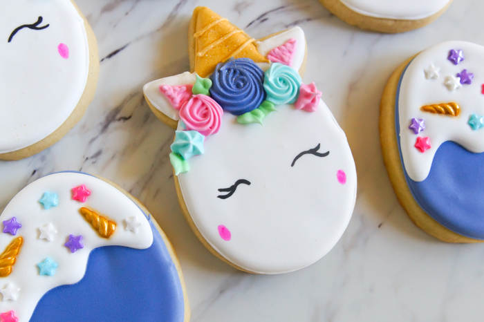 how to make Unicorn Easter Egg Cookies: cookie decorating tutorial + recipes