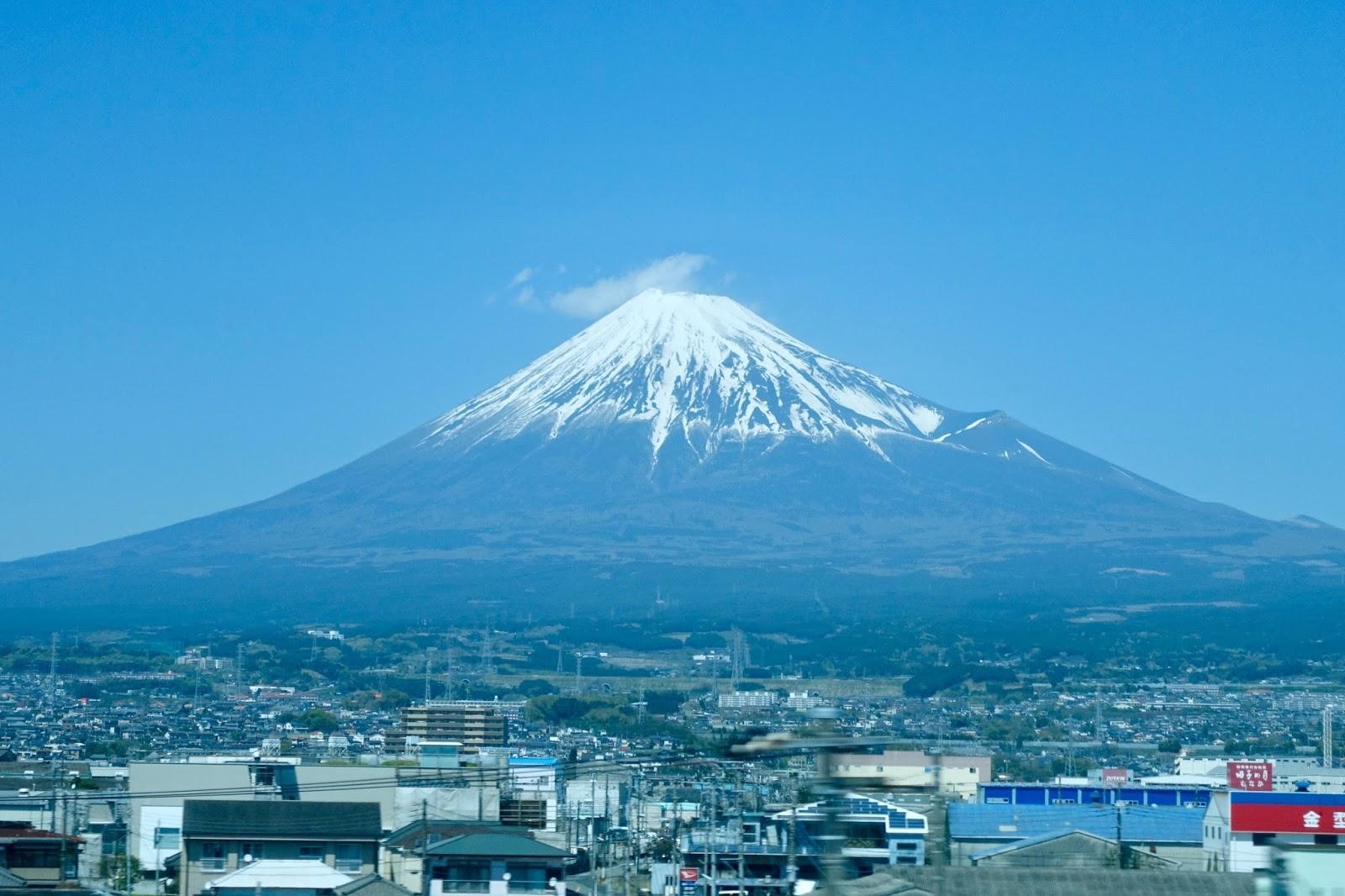 Mount Fuji bullet train
