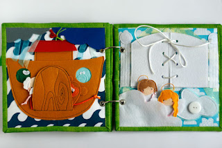 Bible Quiet book Handmade in Israel by Naiola, custom fabric activity book for children