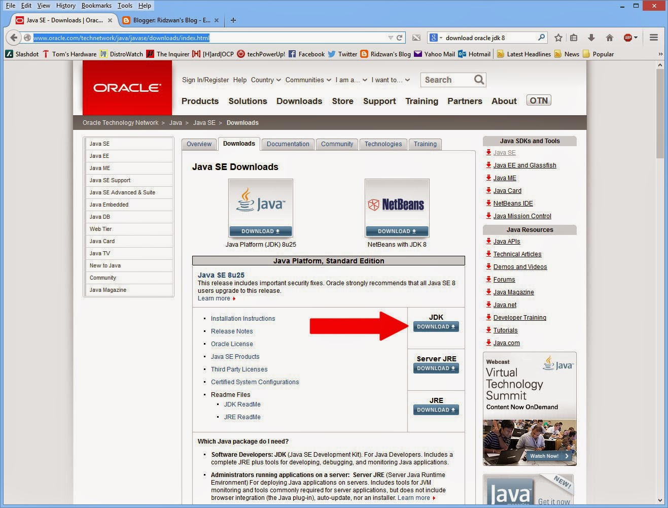 Ridzwan's Blog: How To Install Oracle Java and Android Studio on