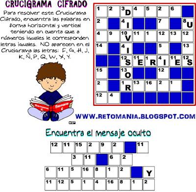 Crucigrama, Cruzadas matemáticas, Cruza.Palabras