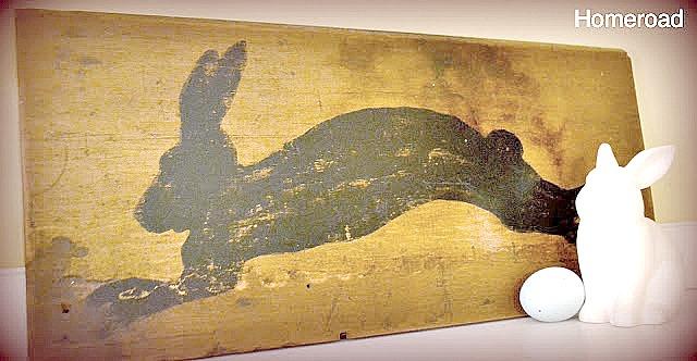 Primitive Bunny Silhouette Sign