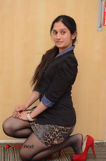 Telugu Actress Priyanka Pallavi Stills in Micro Mini Skirt at Nenosthaa Movie Song Launch at Radio City  0047.JPG