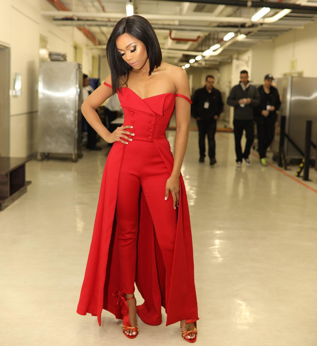 Fashion American Touch Behind Bonang 39 S Dstv Mzansi Viewers Choice Look Phil Mphela Blog