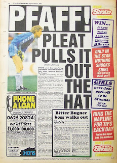 Old Star  Sunday Sport newspaper from 27th September 1987