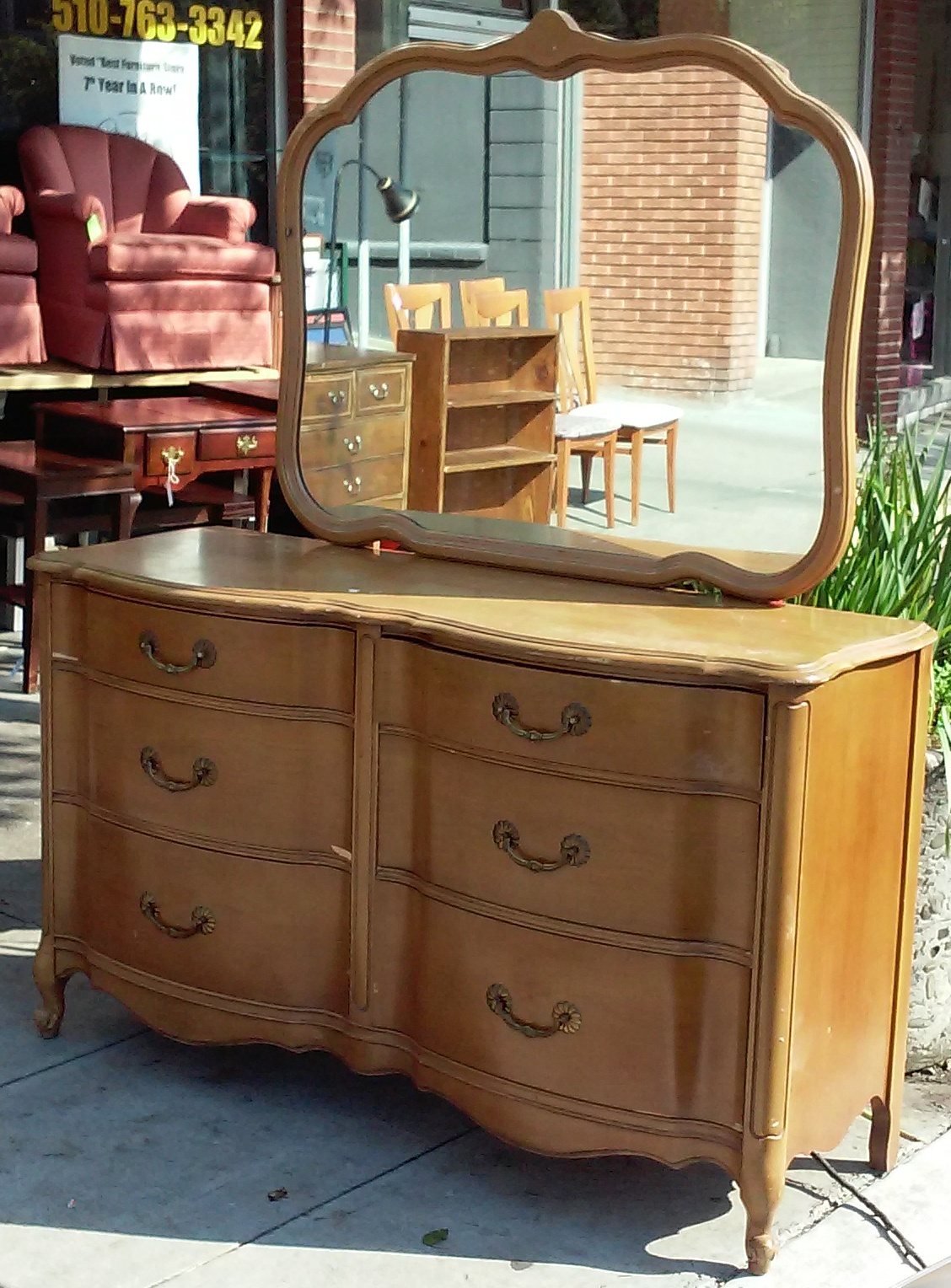 UHURU FURNITURE COLLECTIBLES SOLD Maple French Provincial 6