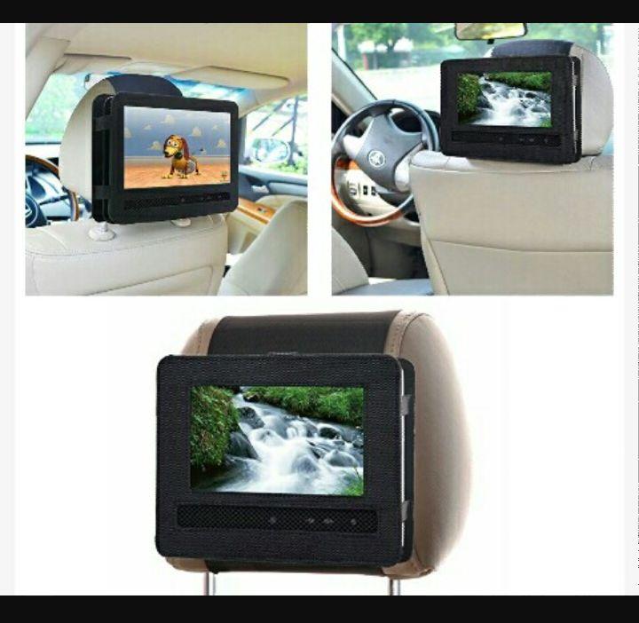 M2 Vehicle Headrest DVD Player Holder - Car Video Entertainment Mount Case with Adjustable Straps