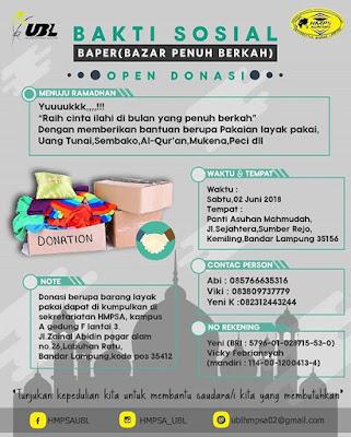 Bazar Penuh Berkah (BAPER) By Himpunan Mahasiswa Program Studi Akuntansi  UBL