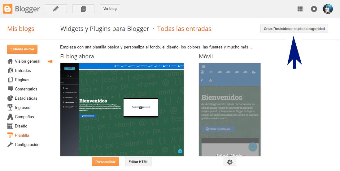 ¿Cómo hacer una copia de seguridad de mi blog de Blogger?