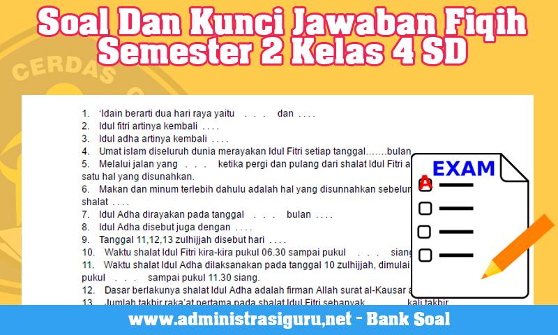 Soal Fiqih Sd Kelas 2 Soal Dan Kunci Jawaban Fiqih