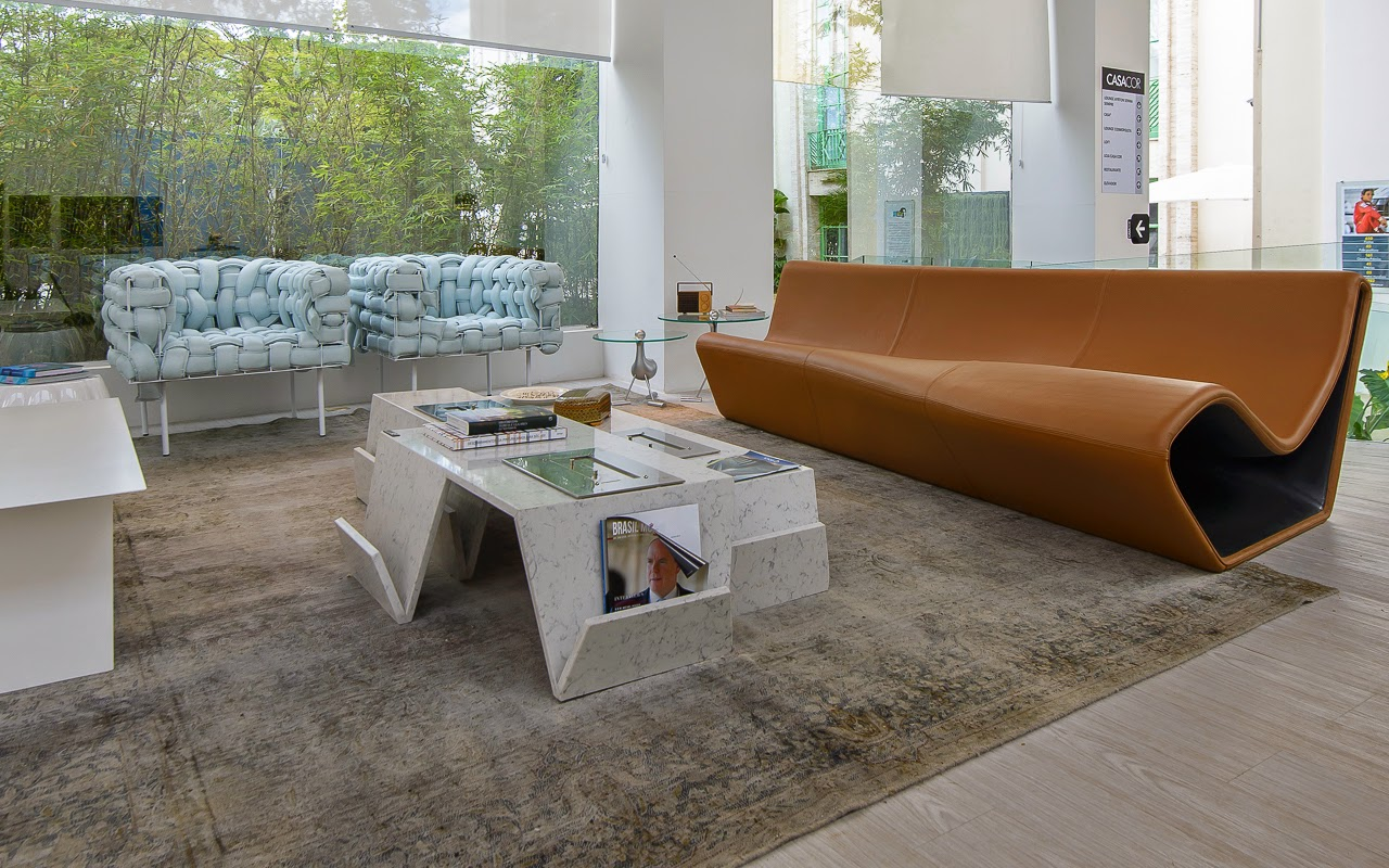 Sofa Rph 4087 Modern Leather Sectional With Recliners Via Artística News A Lot Of Brasil Na Casa Cor Sp 2014