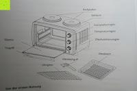 Aufbau: Andrew James – 23 Liter Mini Ofen und Grill mit 2 Kochplatten in Schwarz – 2900 Watt – 2 Jahre Garantie