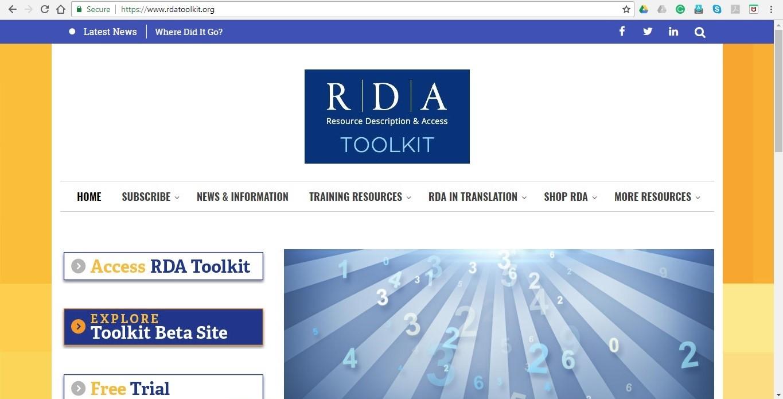 RDA Toolkit