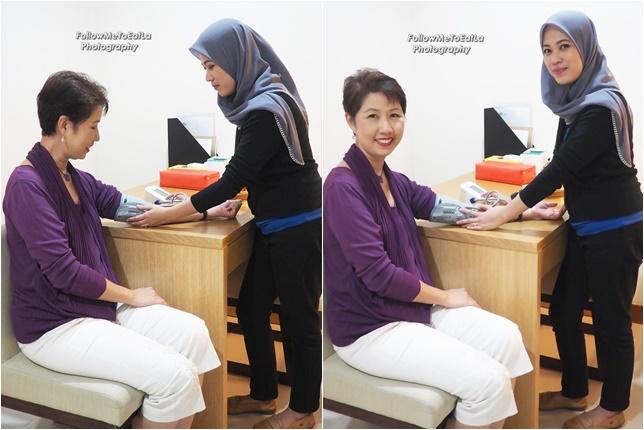 Doing My Blood Pressure Test With Nurse Noor Marliayana