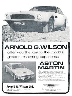 Arnold G Wilson Aston Martin advert 1973