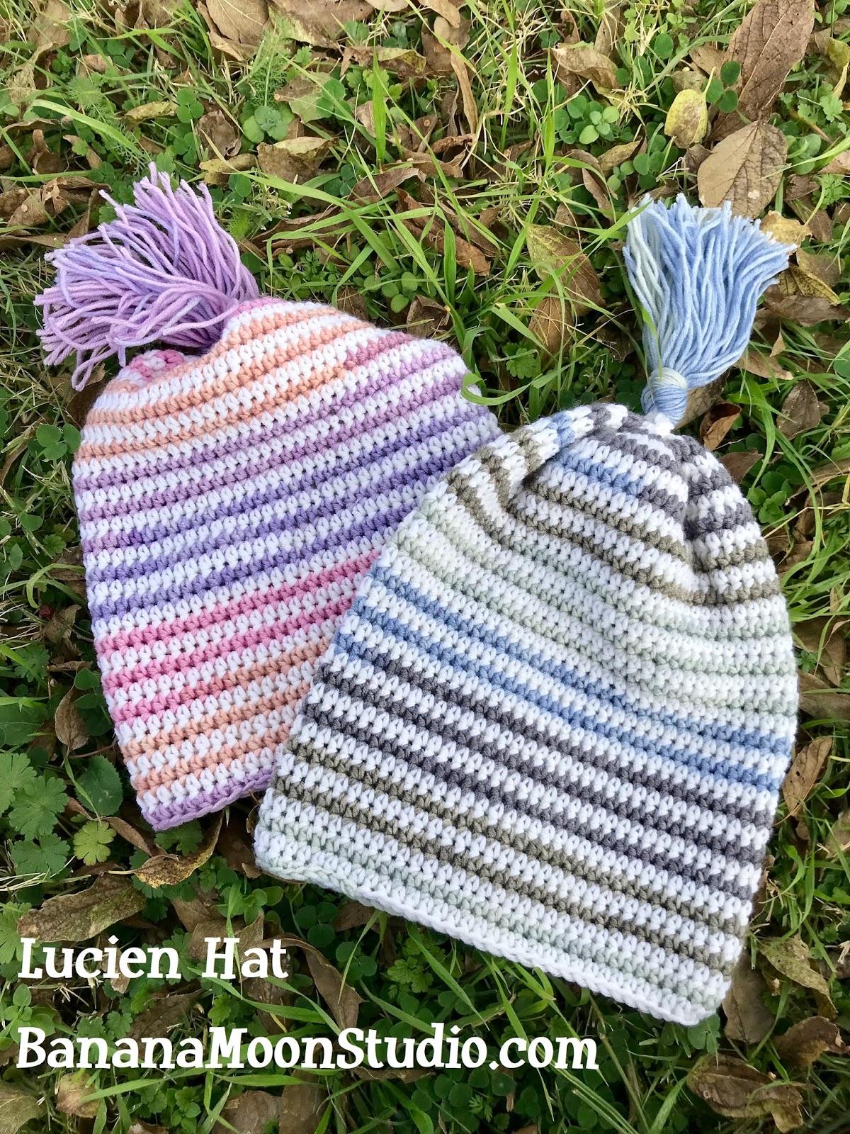 Banana Moon Studio Slouchy Hat Crochet Pattern Lucien Hat