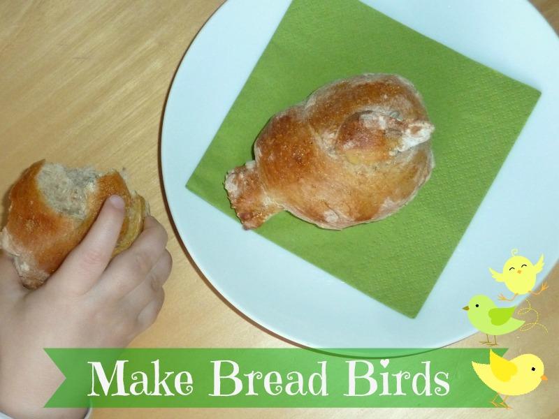 Bird shaped bread sticks