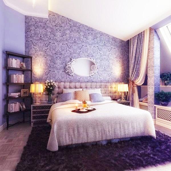 Dekorasi Kamar Tidur Dengan Warna Cat Violet