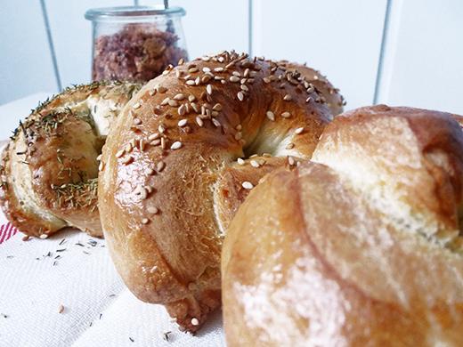 Bagel, backen, Rezept, Anleitung, Blog, Holunderweg18
