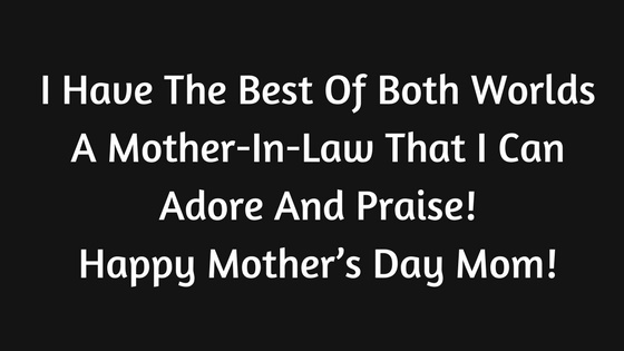 Happy Mothers Day Wishes From Son Daughter In Law 2018 Smsquotes