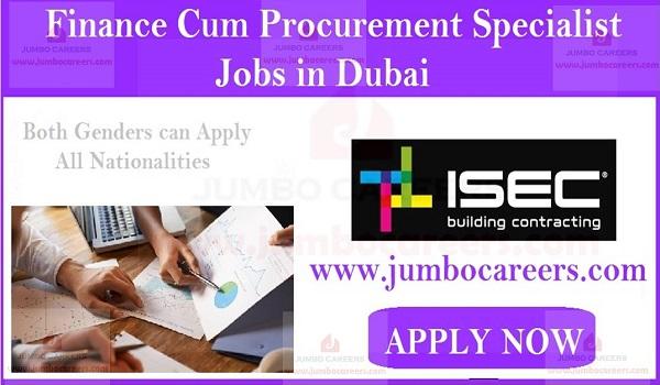 Finance Cum Procurement Specialist jobs and careers, Recent jobs in Dubai,
