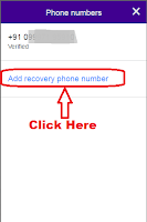 how to edit mobile number in yahoo account
