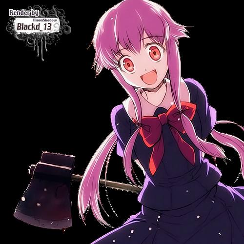 Render-yuno Gasai-Mirai Nikki