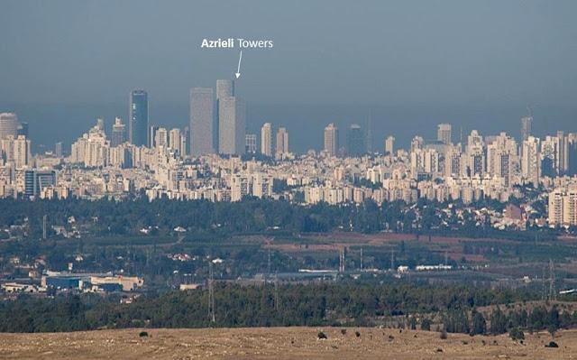 Sky line de Tel Aviv – vista desde Palestina