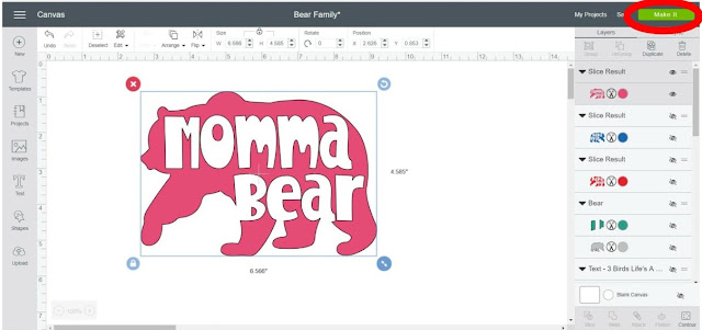 how to use iron on vinyl with a momma bear cut file