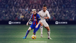 Football players lionel messi and cristiano ronaldo