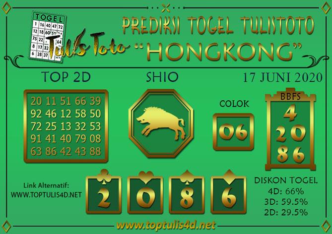 Prediksi Togel HONGKONG TULISTOTO 17 JUNI 2020