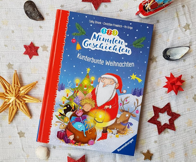 """Heute ein Buch! Die """"1-2-3 Minuten-Geschichten: Kunterbunte Weihnachten"""" und das Vorlesen in der Weihnachtszeit. Mit Kindern lesen ist so wichtig und deshalb stelle ich Euch heute dieses wunderbare weihnachtliche Vorlese-Buch von Cally Stronk und Christian Friedrichs vor."""