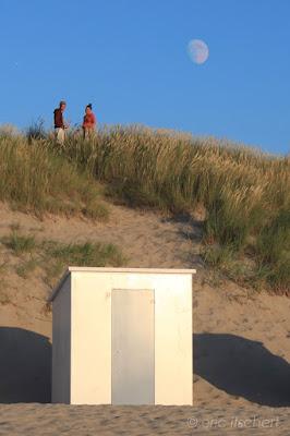 Cadzand, plage, ombre, Zwin, rendez-vous amoureux, cabine de plage