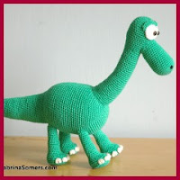 Dinosaurio Arlo amigurumi