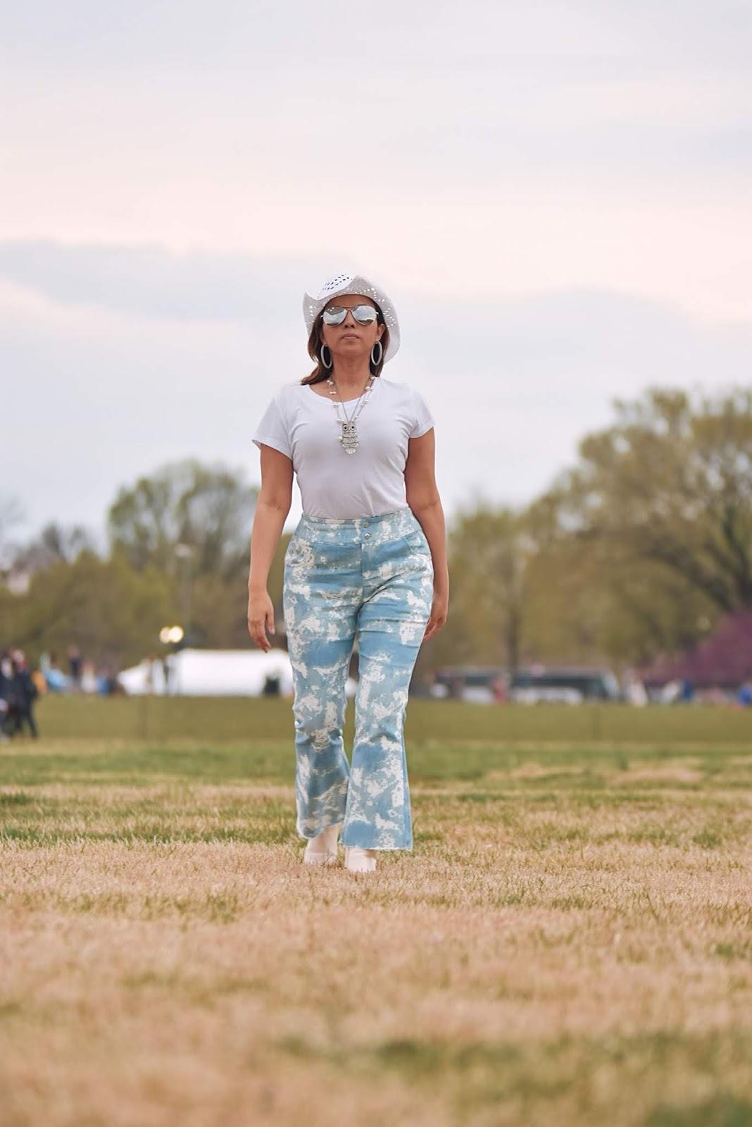 Tie Dye Flared Pants-MariEstilo-SheinFestival-coachella-coachella 2019-festival vibes-lookoftheday-dcblogger-fashionblogger-fashionista-modaelsalvador-modamexico-cowboy style-cowboy girl-