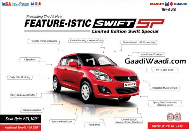 Maruti Swift SP Special Edition