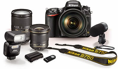 Nikon D750 full frame DSLR camera for photography enthusiast