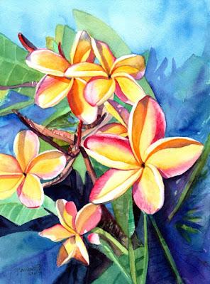 https://www.kauai-fine-art.com/listing/509594798/plumeria-watercolor-tropical-flowers
