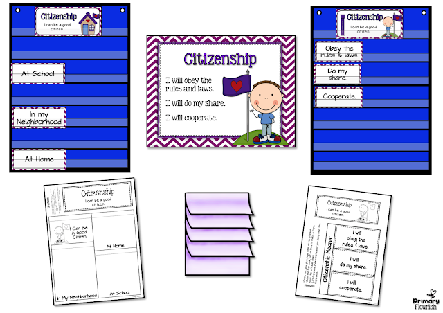 Character Traits: Trustworthiness, Respect, Responsibility, Fairness, Caring, and Citizenship