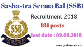Sashastra Seema Bal Recruitment 2018
