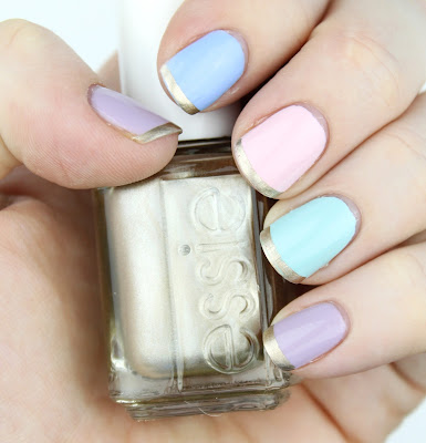 Essie Pastel Nail Polish Nail Swatch Nail Art Easter Bikini So Teeny Fiji Mint Candy Apple Nice is Nice Good As Gold