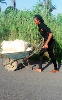 Photos: Student process Cassava to garri in School.