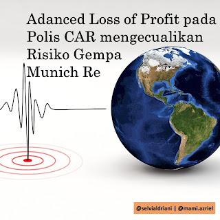 Adanced Loss of Profit pada Polis CAR mengecualikan Risiko Gempa - Munich Re