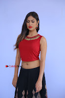 Telugu Actress Nishi Ganda Stills in Red Blouse and Black Skirt at Tik Tak Telugu Movie Audio Launch .COM 0037.JPG