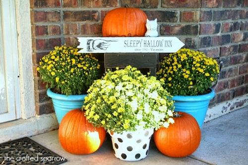 diy sleepy hallow halloween sign